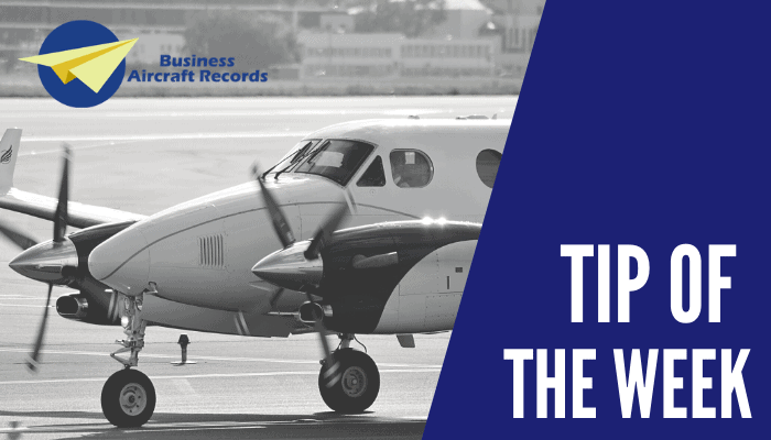 Business Aircraft Records - Tip of the Week