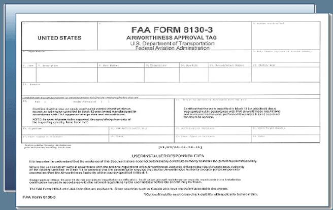 faa form 8130