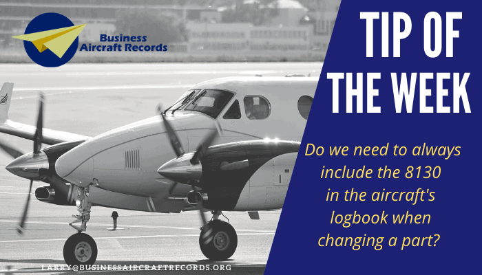 Tip of the week - FAA 8130