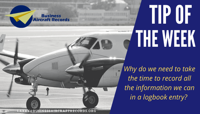 Business Aircraft Records - Tip of the Week 4