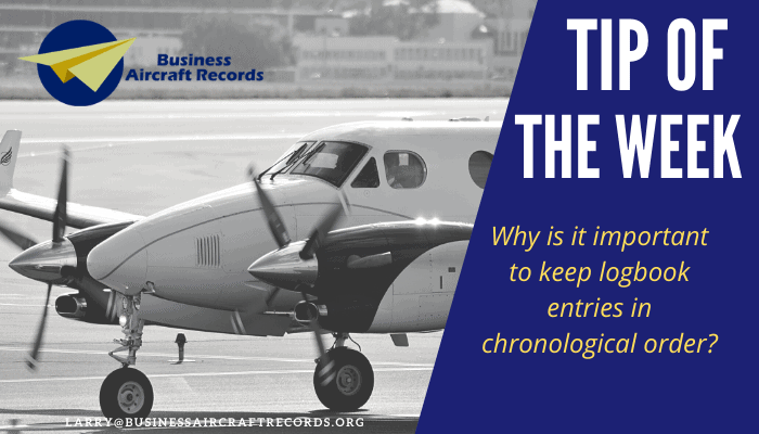 Business Aircraft Solutions Tip of the Week - Chronological Order