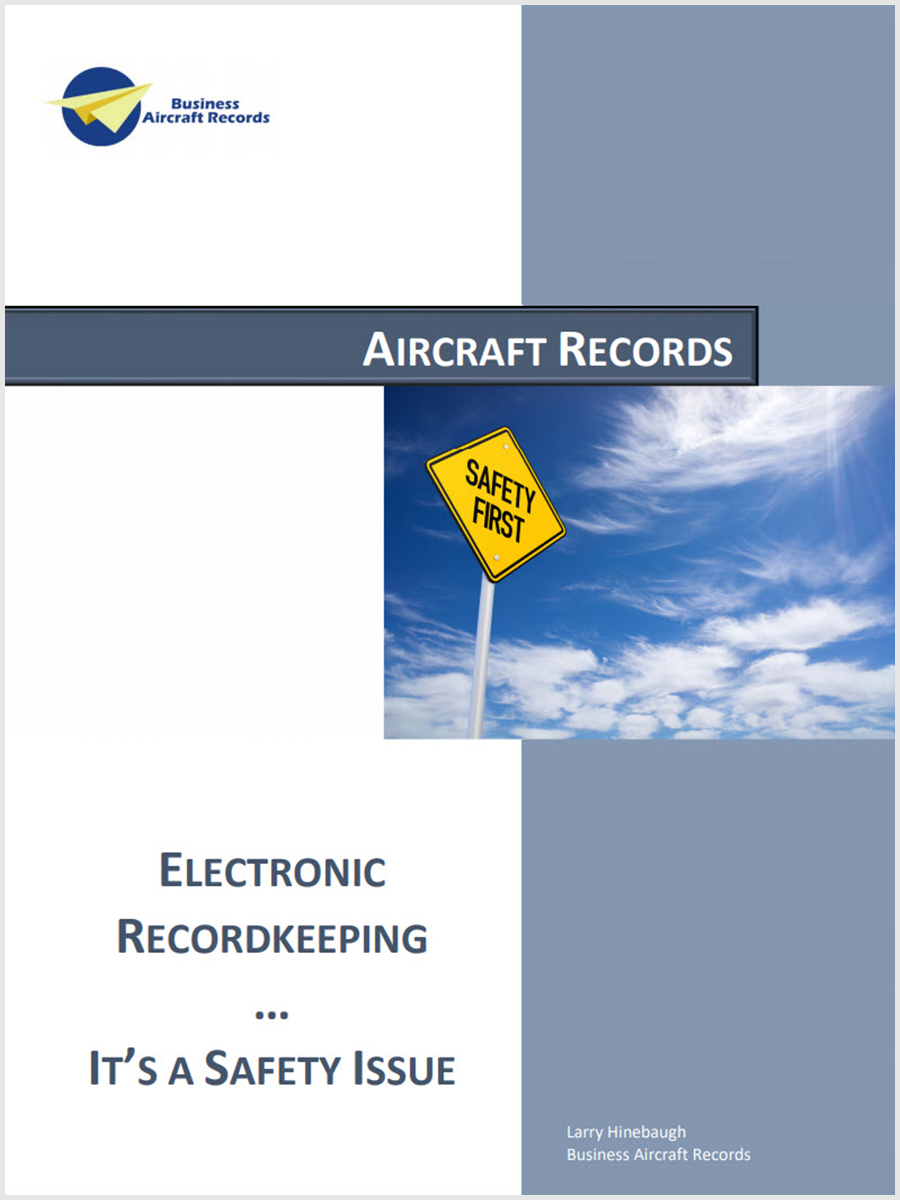 Aircraft Logbooks Electronic Recordkeeping It's A Safety Issue
