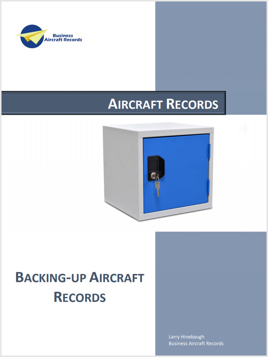Backing Up Aircraft Records