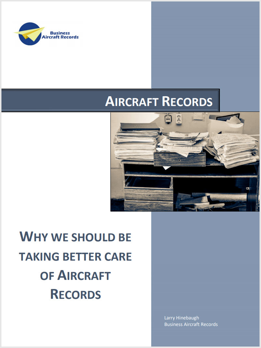 Why We Should Be Taking Better Care Of Aircraft Records
